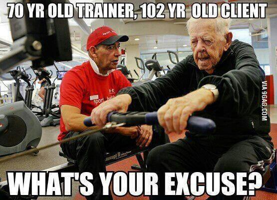 nie zu alt um aktiv zu werden
