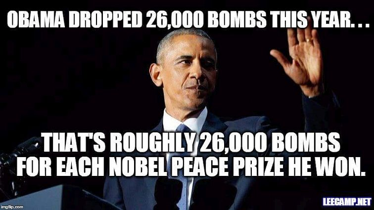 Obama Nobelpreis Bomben