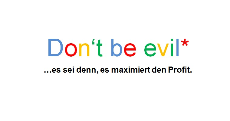 Google Motto Slogan don't be evil