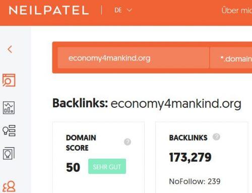 Über 170.000 Links auf economy4mankind
